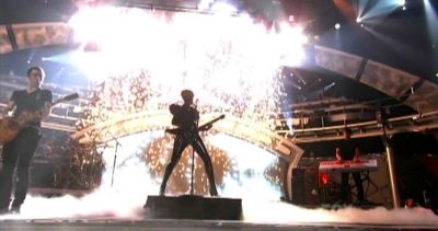 Pyrotechnics for Rihanna on American Idol