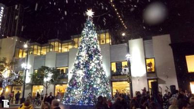 Snow effects at Santa Monica 3rd Street