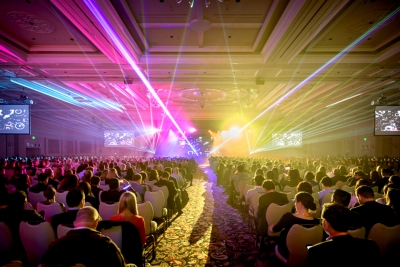 Laser effects at Expedia conference by TLC