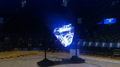 Floating video Hypervsn for Golden State Warriors by TLC Creative