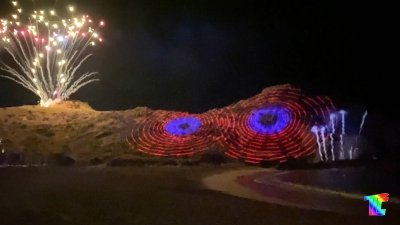 2020 TLC Creative Projection Mapped Mountain Show Playa Event