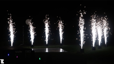 white sparkle fountains by TLC
