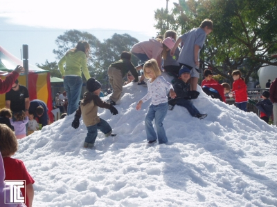 TLC creates snow hills and sled runs