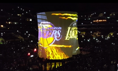 LA Lakers 360 Video Drop-screen reveal by TLC