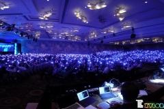 Xylobands USA LED wristbands light up corporate presentation
