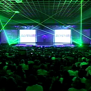 TLC laser effects energize meetings