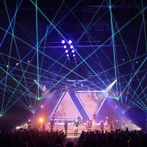 Lasers light up special event