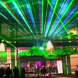 Lasers by TLC Creative light up a gala