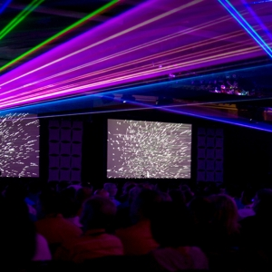 Colorful lasers by TLC Creative