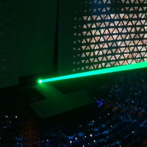 Space Laser Cannon Creates MASSIVE Beam at Corporate Event in Las Vegas