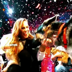 Confetti for a Celebrity Dog Show for TV