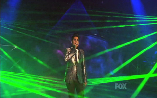 TLC Creative laser effects for ADAM LAMBERT on American Idol