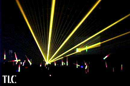 TLC creative LASERS GOLD BEAMS