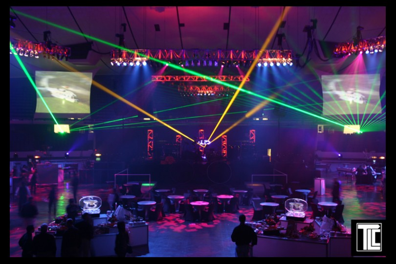 Laser corporate event TLC