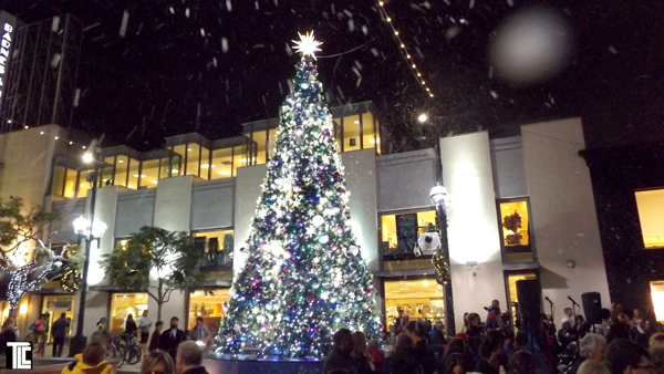 snow at third street promenade by TLC Creative
