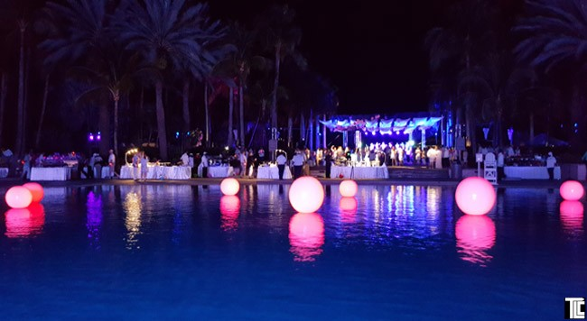Pool with LIGHT UP BALLS from TLC Creative