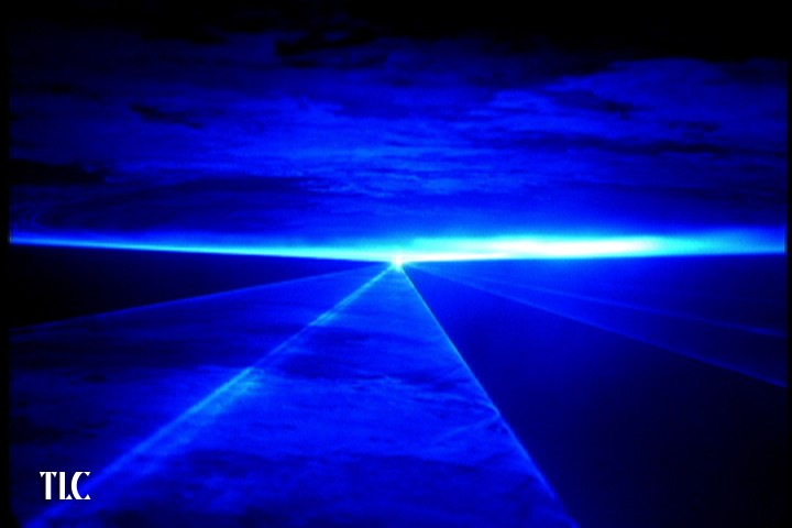 Blue laser show by TLC Creative
