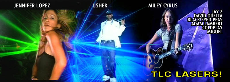 Lasers by TLC in Music Videos by Usher, JLO, Miley