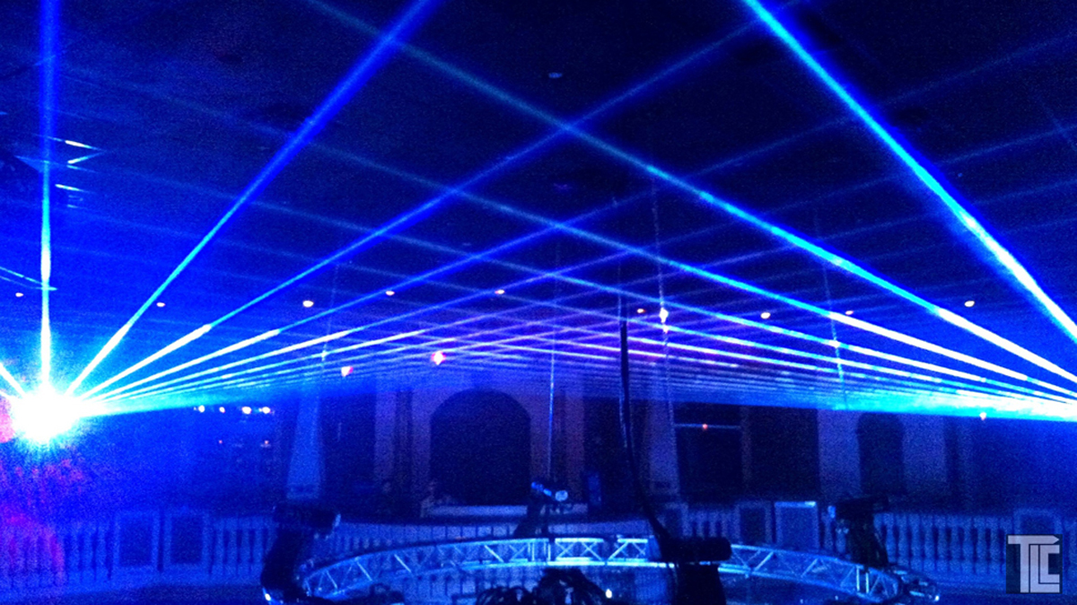 Creative laser entertainment by TLC