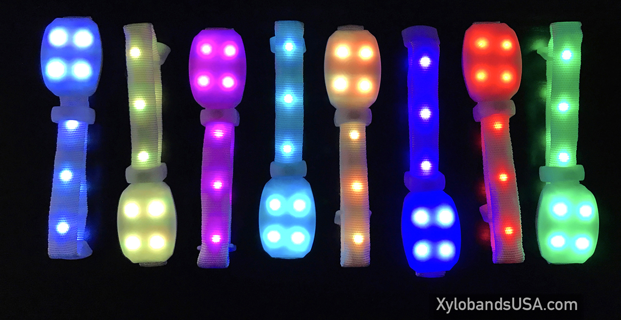 Xylobands wristbands with 360 degrees of light – intelligent con